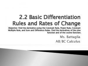2 2 Basic Differentiation Rules and Rates of