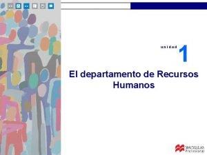unidad 1 El departamento de Recursos Humanos unidad
