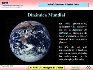 Modelado Matemtico de Sistemas Fsicos Dinmica Mundial En