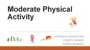 Moderate Physical Activity PHYSICAL EDUCATION FOURTH GRADE COACH