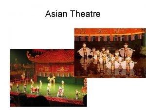 Asian Theatre Asian Theatre 350 1350 CE no