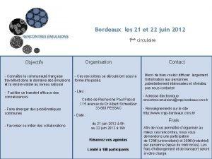 Bordeaux les 21 et 22 juin 2012 1re