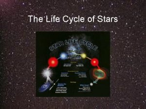 The Life Cycle of Stars The Life Cycle