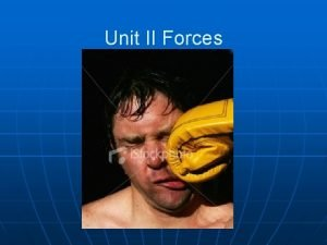 Unit II Forces Force a push or pull