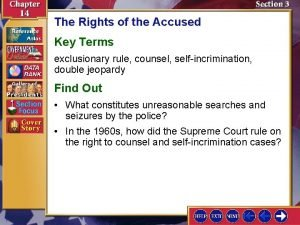 The Rights of the Accused Key Terms exclusionary
