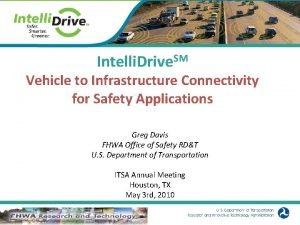 Intelli Drive SM Vehicle to Infrastructure Connectivity for