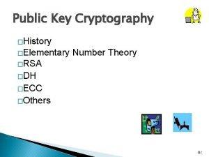 Public Key Cryptography History Elementary Number Theory RSA