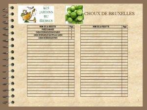 CHOUX DE BRUXELLES 1 CHOUX DE BRUXELLES 4