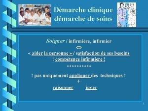 Dmarche clinique dmarche de soins Soigner infirmire infirmier