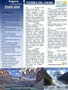 Programa 7 DIAS 6 NOCHES 589 000 QUE