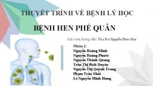 THUYT TRNH V BNH L HC BNH HEN