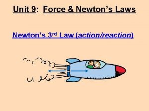 Unit 9 Force Newtons Laws Newtons 3 rd