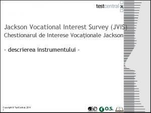 Jackson Vocational Interest Survey JVIS Chestionarul de Interese