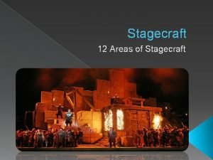 Stagecraft 12 Areas of Stagecraft Your Task Over