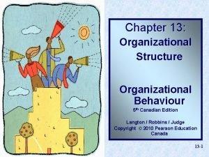 Chapter 13 Organizational Structure Organizational Behaviour 5 th