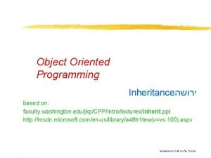 Object Oriented Programming Inheritance based on faculty washington