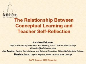 The Relationship Between Conceptual Learning and Teacher SelfReflection