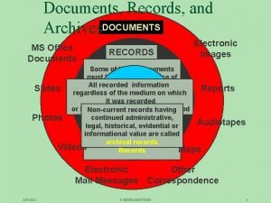 Documents Records and Archives DOCUMENTS MS Office Documents