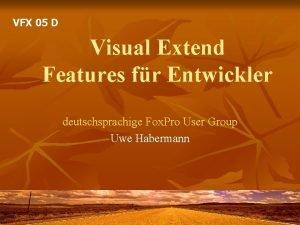 VFX 05 D Visual Extend Features fr Entwickler