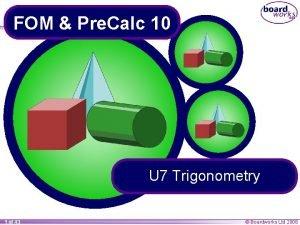 FOM Pre Calc 10 U 7 Trigonometry 1