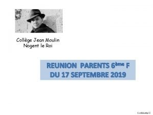 Collge Jean Moulin Nogent le Roi REUNION PARENTS