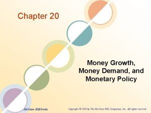 Chapter 20 Money Growth Money Demand and Monetary