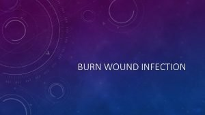 BURN WOUND INFECTION BURN WOUND INFECTION Skin is