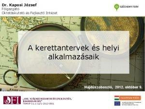 Dr Kaposi Jzsef Figazgat Oktatskutat s Fejleszt Intzet