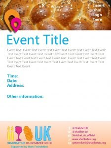 Insert shul logo here Event Title Event Text