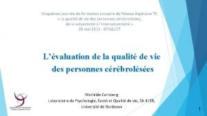 Cinquime journe de formation annuelle du Rseau Aquitaine
