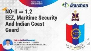 Special Subject Naval Orientation No 8 Gujarat Naval