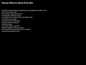 Shasun Pharma Share Price Nse importance of calculating