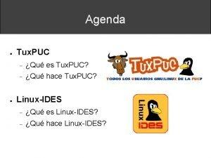 Agenda Tux PUC Qu es Tux PUC Qu