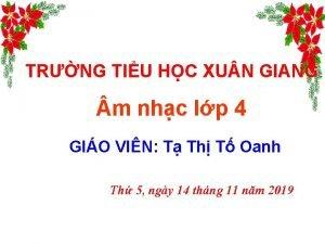 TRNG TIU HC XU N GIANG m nhc