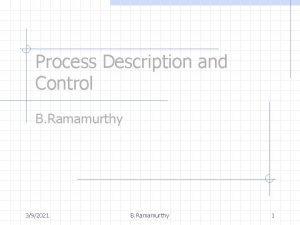 Process Description and Control B Ramamurthy 392021 B