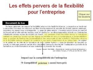 Les effets pervers de la flexibilit pour lentreprise