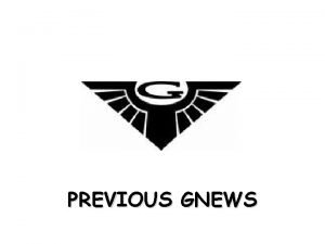 PREVIOUS GNEWS Patch 4 Patches 9 bugs addressed