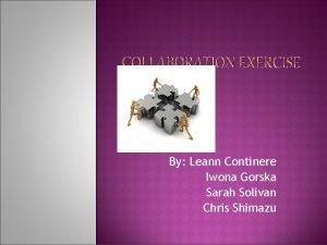 By Leann Continere Iwona Gorska Sarah Solivan Chris