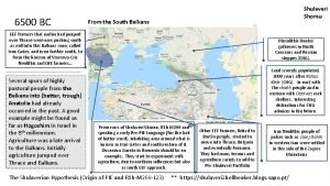 6500 BC Shulaveri Shomu From the South Balkans