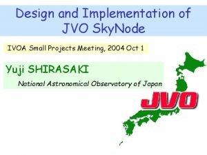 Design and Implementation of JVO Sky Node IVOA