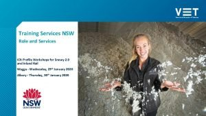 Training Services NSW Role and Services ICN Profile