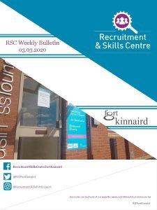 RSC Weekly Bulletin 03 2020 Recruitment Skills Centre