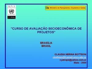 CURSO DE AVALIAO S 0 CIOECONMICA DE PROJETOS