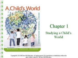 Chapter 1 Studying a Childs World Copyright 2014