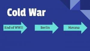 Cold War End of WWII Berlin Havana Definition
