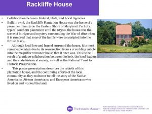 Rackliffe House Collaboration between Federal State and Local