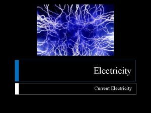 Electricity Current Electricity Current Electricity Producing Electric Current