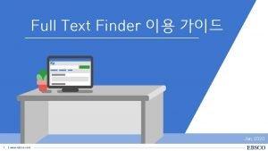 Full Text Finder Jan 2020 1 www ebsco