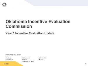 Oklahoma Incentive Evaluation Commission Year 5 Incentive Evaluation