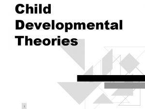 Child Developmental Theories 1 Learning Theory Skinner behavior
